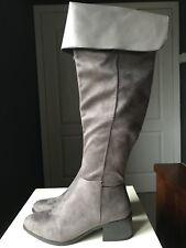 NEW LOOK Designer Ladies Women Grey Knee High Heel Shoe Boot Size 6 39