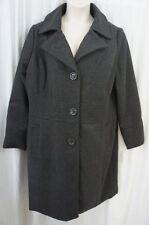 Dollhouse Outerwear Coat Juniors Sz 2X Charcoal Grey Wool Blend Dress Overcoat
