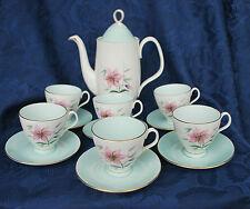"Royal Albert ""Elfin"" Coffee Pot/Cups and Saucers/Open Sugar - 1950s   #310"
