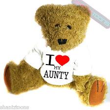 I Love My Aunty Novelty Gift Teddy Bear