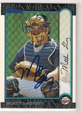 Minnesota Twins MATT LeCROY autographed 1999 Bowman