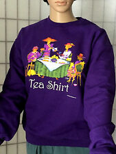 Red Hat Society Ladies Purple Tea Shirt Sweatshirt Size Small NWT Long Sleeve