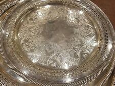 Wm Rogers silver plates Set of 3