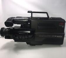 Vtg Panasonic Ag-160 Pro Vhs Reporter Camcorder Auto Focus Accessories Hard Case