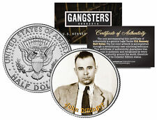 JOHN DILLINGER Gangster Bank Robber JFK Kennedy Half Dollar US Colorized Coin