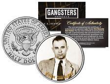 John Dillinger Gangster Bank Robber JFK Kennedy Half Dollar US Colorized Coin