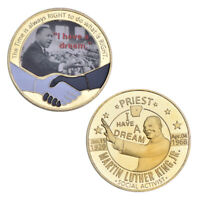 WR US Moneda de oro de Martin Luther King Jr. 1964 Regalos bonitos de Nobel