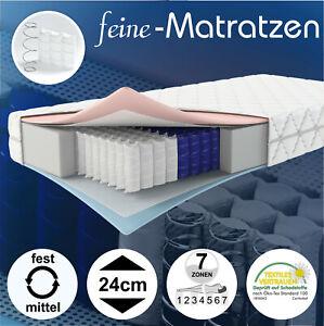 Matratze Taschenfederkern Wendematratze 7-Zonen Berlin Plus Härte H3 H4