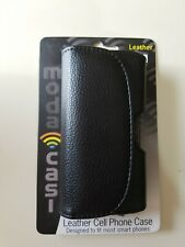 Moda Casi Leather Cell Phone Case Designed to fit Most Smart Phones 360 Clip On