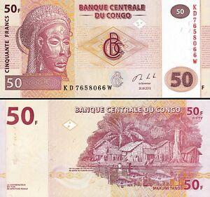 Congo 50 Francs 2013, UNC, P-97A