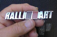 MITSUBISHI RALLI ART 90mm CHROME PLASTIC SCRIPT BADGE Emblem *NEW*