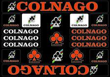 Colnago Bicycle Bike Frame Decals Stickers Adhesive Graphic Set Vinyl Orange