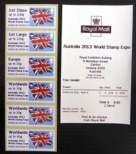 GB 2013 Australia World Stamp Expo Flag Post and Go SEE BELOW NB4553