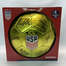 2019 USWNT USA Women National World Cup Team Facsimile Signed Soccer Ball Gold