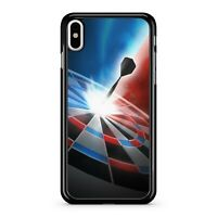Spectacular Striking Dart Landing On Colourful Dartboard 2D Phone Case Cover