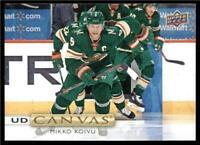 2019-20 Upper Deck UD Canvas #C57 Mikko Koivu - Minnesota Wild