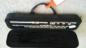Miyazawa flute, open holed, solid silver head, in beautiful condition