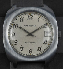 Vintage Caravelle Men's Automatic Cal. 11OWACD Stainless Steel Watch FOR REPAIR