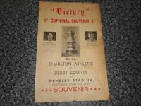 """CHARLTON ATHLETIC  v  DERBY COUNTY 1946 F A CUP FINAL """"VICTORY"""" SCARCE ISSUE"""