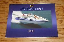 Original 2001 Crownline Boat Full Line Deluxe Sales Brochure 01