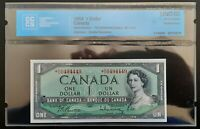 1954 Bank of Canada $1 Replacement Note *D/O0494449 CCCS UNC-60 BC-37bA