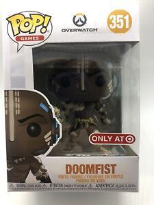 Funko POP! Overwatch Leopard Doomfist Vinyl Figure #351 in Hand with Protector
