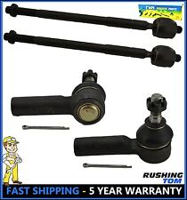 4 Pcs Kit Front Inner & Outer Tie Rod Chevy Toyota Corolla Rav4 W/Power Steering