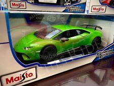 Maisto 1:18 Scale Diecast Model Car - Lamborghini Huracan Performante (Green)