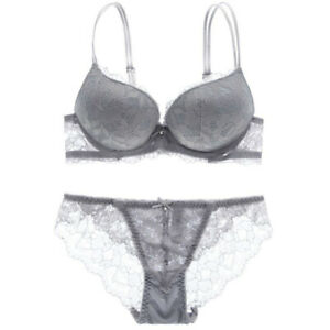 Sexy Women Lace Bra and Panty Set Boost Push Up Underwear Brassiere Set Lingerie