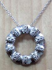 GORGEOUS GENUINE DIAMOND CIRCLE PENDANT NECKLACE