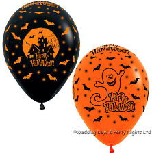 5 Happy Halloween Haunted House + Ghost Helium/Air Balloons Party Decorations