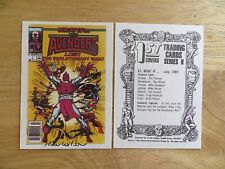 1991 MARVEL 1ST COVERS WHAT IF AVENGERS LOST CARD SIGNED RON WILSON, WITH POA