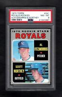 1970 TOPPS #241 ROYALS ROOKIE STARS PSA 8 NM/MT CENTERED!