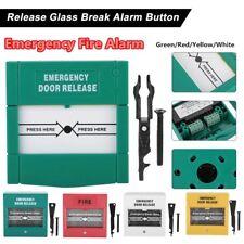 Break Glass Fire Alarm Emergency Door Release Button Switch Control Access New