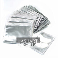 LashArt 50 Silver Pack Eyelash Extension Under Eye Pads Lint Free Gel Patches