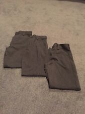 Used Next Boys Grey School Trousers x 3 - Age 9 Years