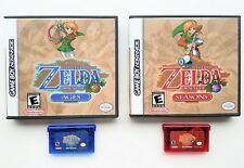 Legend of Zelda - Oracle of Seasons / Ages & Custom Case GBA Gameboy Advance USA