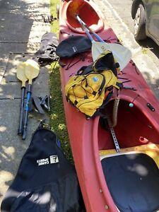 Double Sea Kayak with Equipment