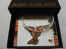 Alex and Ani Monarch Butterfly Charm Shiny Silver NWTBC