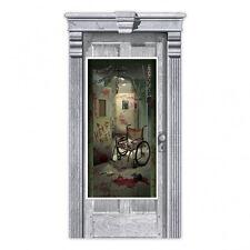 Halloween Party Door Banner Party Decoration Haunted Bloody Asylum Door Poster