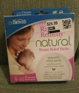 Dr Browns Rachel's Remedy Natural Breast Relief Packs for Breastfeeding 2 Pack