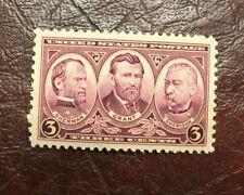 SCOTT #787 UNUSED U.S. STAMPS 1937 SHERMAN, GRANT AND SHERIDAN 3 CENT
