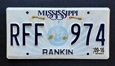 """Mississippi """" AMERICA'S MUSIC LUCILLE GUITAR BB KING BLUES ' MS lLicense Plate"""