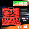 9pc Wire Hose Clamp Clip Pliers Set Swivel Jaw Fuel Oil Water Hose Auto Tool Kit