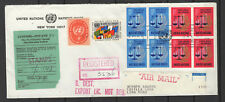Nations Unies New-York 10 timbres sur lettre tampon à date 1970/B5N-U