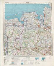Russian Soviet Military Topographic Maps - BREMEN (Germany), 1:500 000, ed. 1976