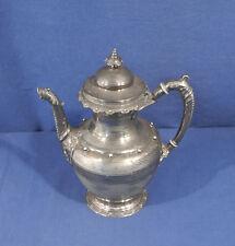 Antique Civil War Era Victorian Rogers Silverplate Teapot Coffee Pot Aesthetic