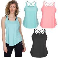 Trespass Meghan Womens Active Summer Top Workout Gym Fitness Vest