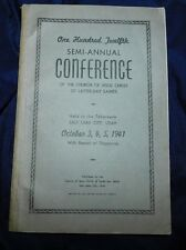 October 1941 Conference Report LDS Mormon Book