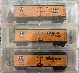 MTL/Micro-Trains 47242 Santa Fe 40' Reefer 3-Car Set N-Scale NIB